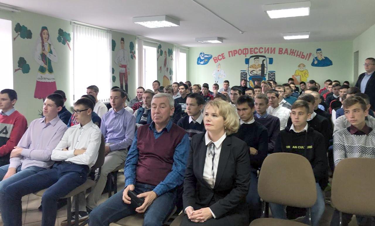 Встреча со студентами Дрожжановского техникума  отраслевых технологий